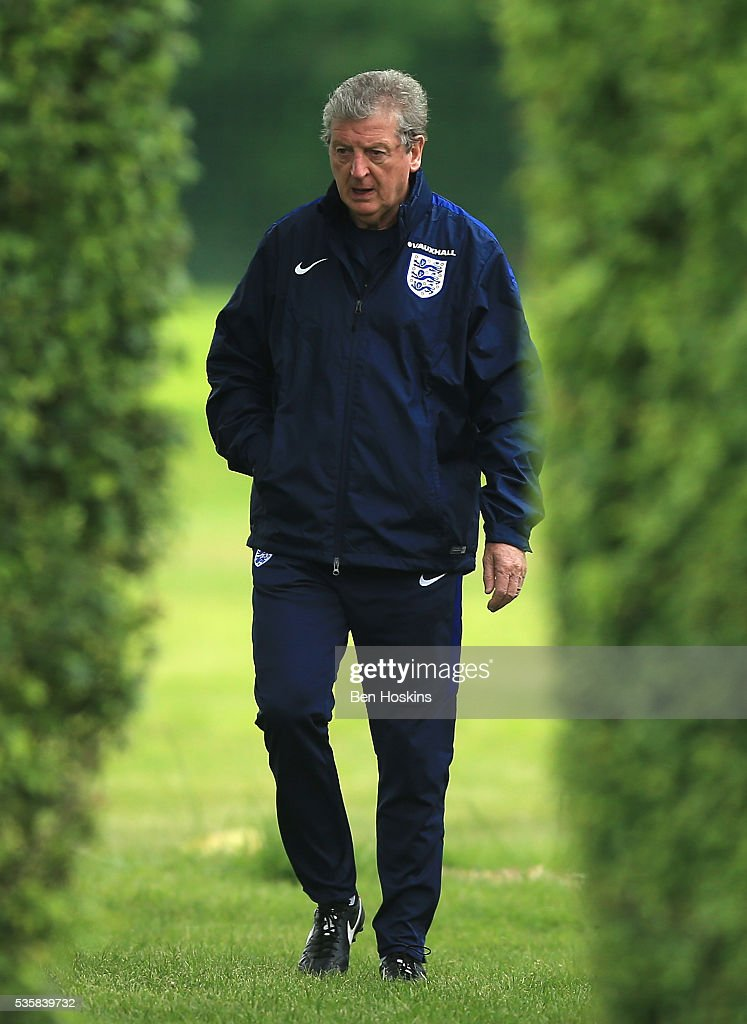 <a gi-track='captionPersonalityLinkClicked' href=/galleries/search?phrase=Roy+Hodgson&family=editorial&specificpeople=881703 ng-click='$event.stopPropagation()'>Roy Hodgson</a>, Manager of England looks on during an England training session in St Albans on May 30, 2016, near St Albans, England.