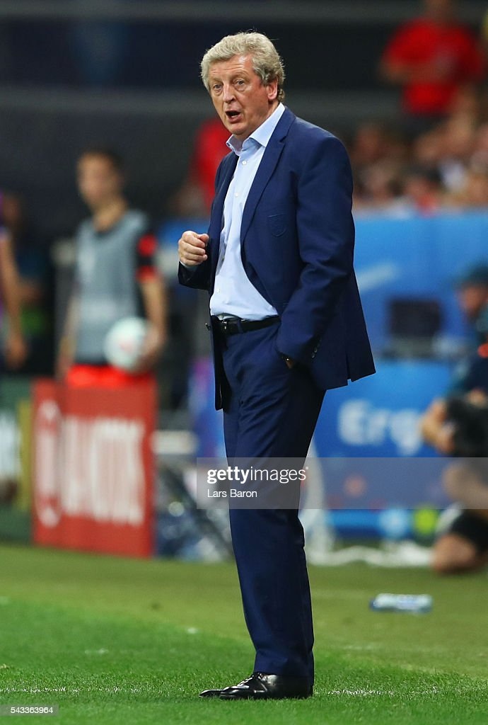 <a gi-track='captionPersonalityLinkClicked' href=/galleries/search?phrase=Roy+Hodgson&family=editorial&specificpeople=881703 ng-click='$event.stopPropagation()'>Roy Hodgson</a> manager of England looks on during the UEFA EURO 2016 round of 16 match between England and Iceland at Allianz Riviera Stadium on June 27, 2016 in Nice, France.