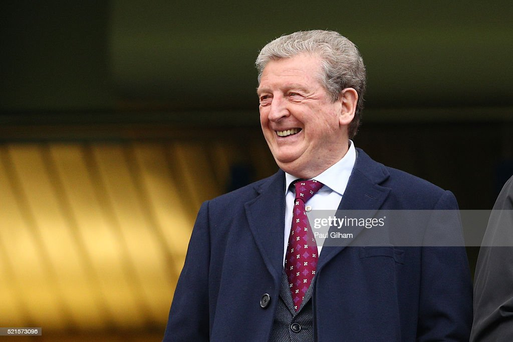 <a gi-track='captionPersonalityLinkClicked' href=/galleries/search?phrase=Roy+Hodgson&family=editorial&specificpeople=881703 ng-click='$event.stopPropagation()'>Roy Hodgson</a>, Manager of England looks on from the stands during the Barclays Premier League match between Chelsea and Manchester City at Stamford Bridge on April 16, 2016 in London, England.