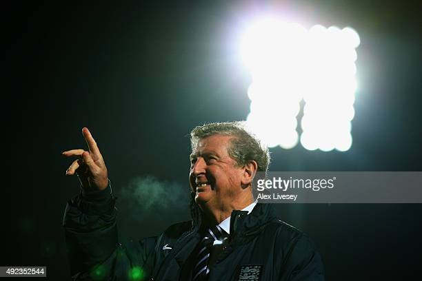 Roy Hodgson manager of England looks on prior to the UEFA EURO 2016 qualifying Group E match between Lithuania and England at LFF Stadionas on...