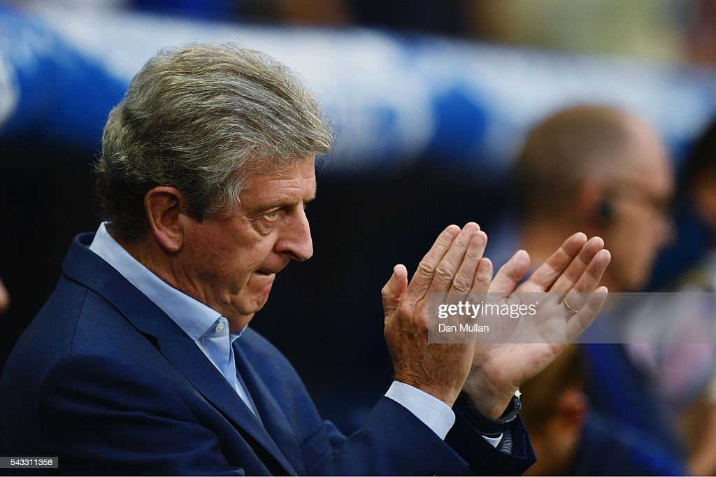 <a gi-track='captionPersonalityLinkClicked' href=/galleries/search?phrase=Roy+Hodgson&family=editorial&specificpeople=881703 ng-click='$event.stopPropagation()'>Roy Hodgson</a> manager of England looks on prior to the UEFA EURO 2016 round of 16 match between England and Iceland at Allianz Riviera Stadium on June 27, 2016 in Nice, France.