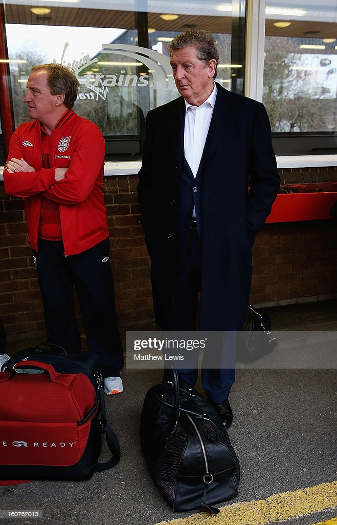 Roy Hodgson, manager of England travels to London by Train from Birmingham International Train Station on February 5, 2013 in Birmingham, England.