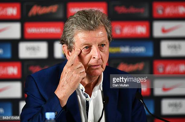 Roy Hodgson speaks during a press conference on June 28 2016 in Chantilly France
