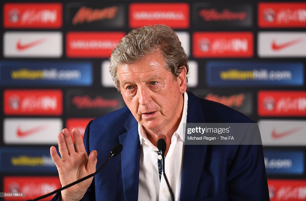<a gi-track='captionPersonalityLinkClicked' href=/galleries/search?phrase=Roy+Hodgson&family=editorial&specificpeople=881703 ng-click='$event.stopPropagation()'>Roy Hodgson</a> speaks during a press conference on June 28, 2016 in Chantilly, France.