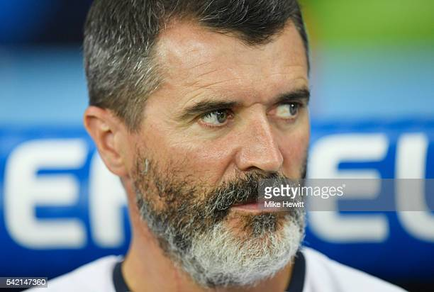 Roy Keane assistant manager of Republic of Ireland looks on prior to the UEFA EURO 2016 Group E match between Italy and Republic of Ireland at Stade...