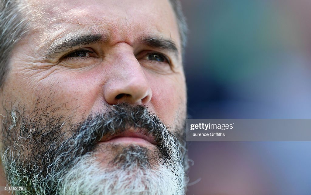 <a gi-track='captionPersonalityLinkClicked' href=/galleries/search?phrase=Roy+Keane&family=editorial&specificpeople=171835 ng-click='$event.stopPropagation()'>Roy Keane</a>, assistant manager of Republic of Ireland looks on prior to the UEFA EURO 2016 round of 16 match between France and Republic of Ireland at Stade des Lumieres on June 26, 2016 in Lyon, France.