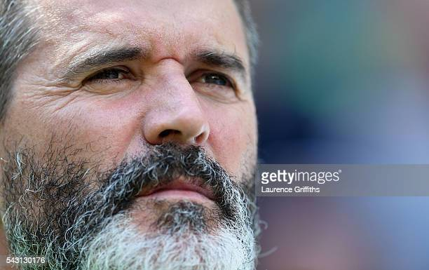 Roy Keane assistant manager of Republic of Ireland looks on prior to the UEFA EURO 2016 round of 16 match between France and Republic of Ireland at...