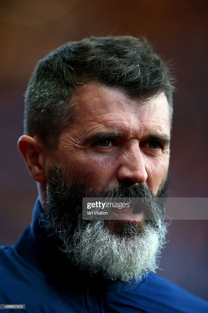 Roy Keane Aston Villa assistant manager looks on before the Barclays Premier League match between Aston Villa and Manchester City at Villa Park on...