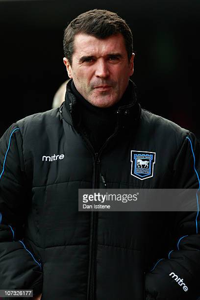 Roy Keane manager of Ipswich looks on during the npower Championship match between Ipswich Town and Swansea City at Portman Road on December 4 2010...
