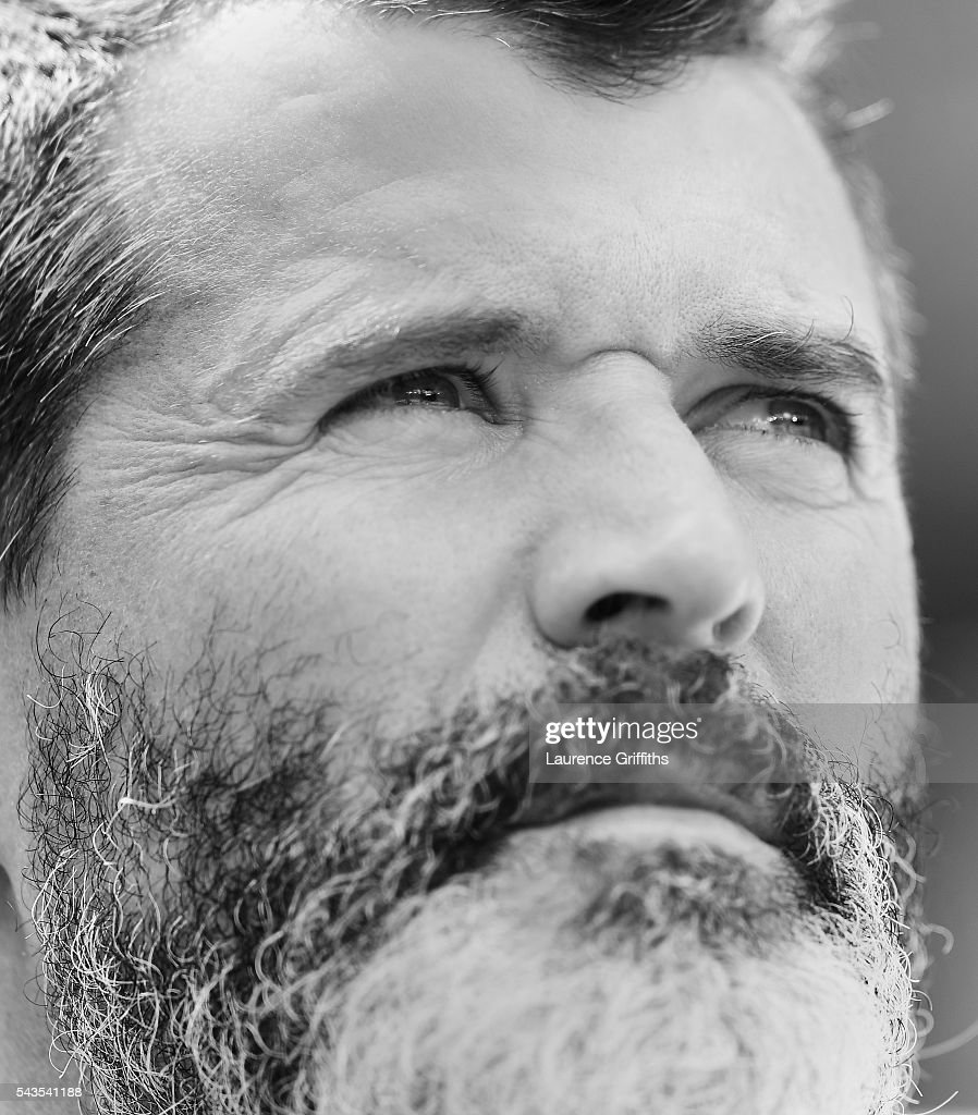 Roy Keane of Republic of Ireland looks on during the UEFA Euro 2016 match between France and Republic of Ireland at Stade des Lumieres on June 26, 2016 in Lyon, France.