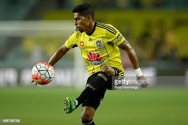 Roy Krishna of Wellington controls the ball during the round eight ALeague match between Sydney FC and Wellington Phoenix at Allianz Stadium on...