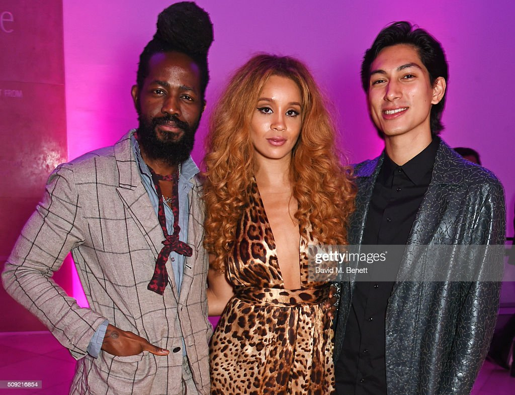 Roy Luwolt, <a gi-track='captionPersonalityLinkClicked' href=/galleries/search?phrase=Jillian+Hervey&family=editorial&specificpeople=5543959 ng-click='$event.stopPropagation()'>Jillian Hervey</a> and Lucas Goodman attend a private view of 'Vogue 100: A Century of Style' hosted by Alexandra Shulman and Leon Max at the National Portrait Gallery on February 9, 2016 in London, England.
