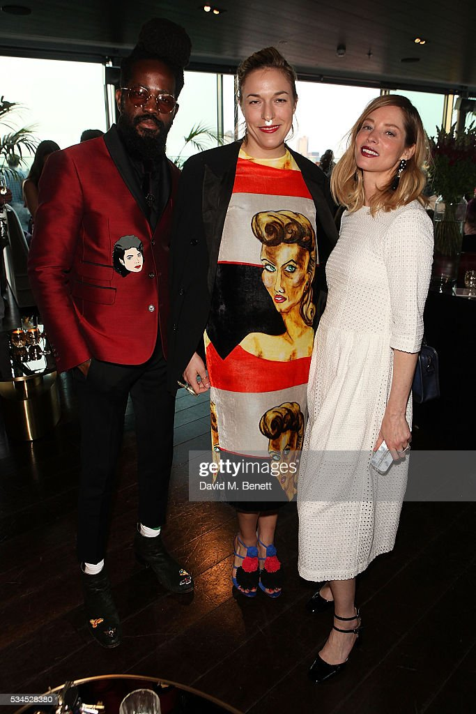 Roy Luwolt, Mary Alice Malone and <a gi-track='captionPersonalityLinkClicked' href=/galleries/search?phrase=Sienna+Guillory&family=editorial&specificpeople=224970 ng-click='$event.stopPropagation()'>Sienna Guillory</a> attend the Rumpus Room Spring Fling at Mondrian London on May 26, 2016 in London, England.