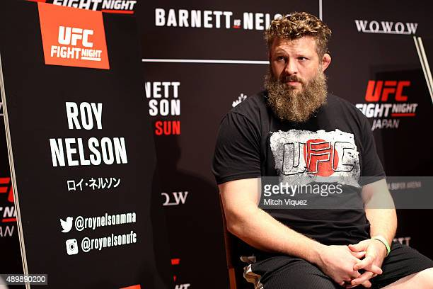 Roy Nelson during the UFC Ultimate Media Day at the Tokyo American Club on September 25 2015 in Tokyo Japan