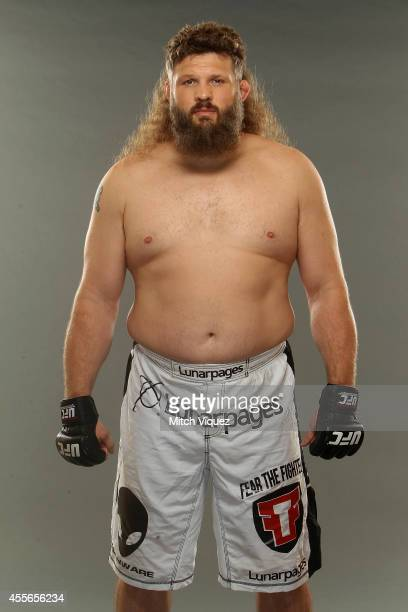 Roy Nelson poses during a UFC photo session at the Hilton Tokyo on September 17 2014 in Tokyo Japan