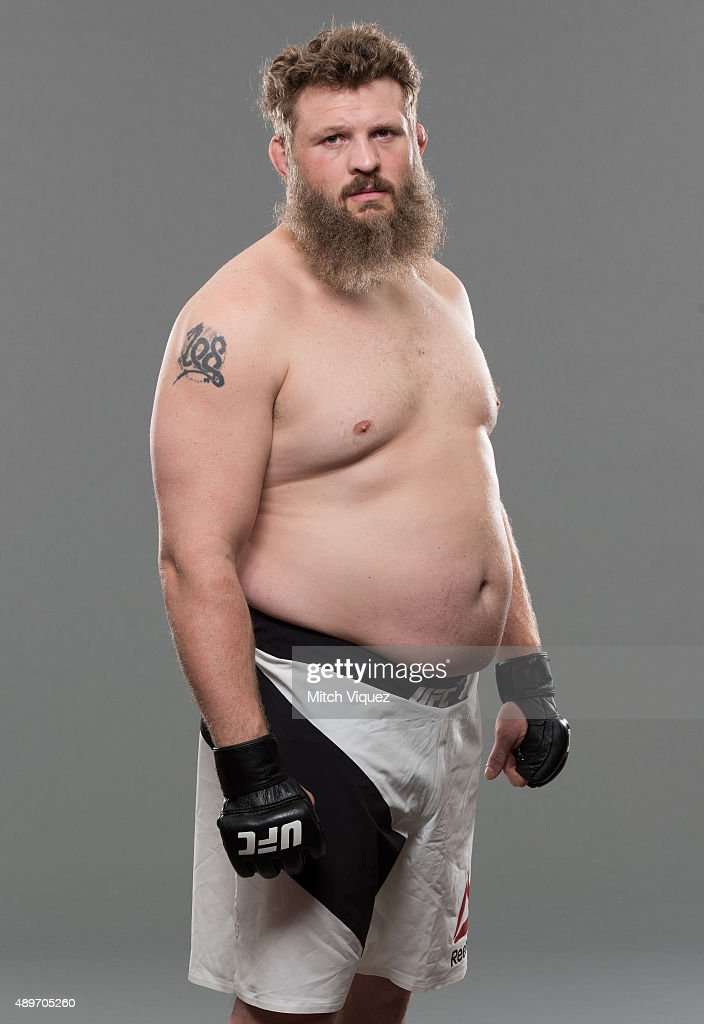 Roy Nelson poses during a UFC photo session on September 23 2015 in Tokyo Japan