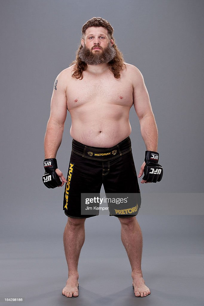 Roy Nelson poses for a portrait at MGM Grand Garden Arena on May 23 2012 in Las Vegas Nevada