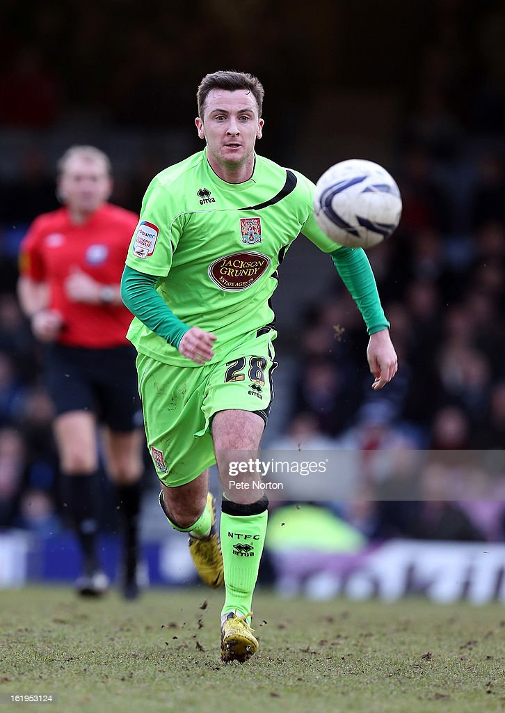 Roy O'Donovan of Northampton Town in action during the npower League Two match between Southend United and Northampton Town at Roots Hall on February 16, 2013 in Southend, England.