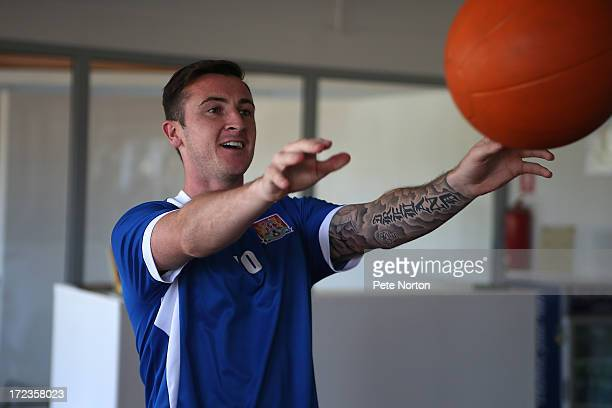Roy O'Donovan of Northampton Town takes part in a gym session during PreSeason Training on July 2 2013 in Novigrad Croatia