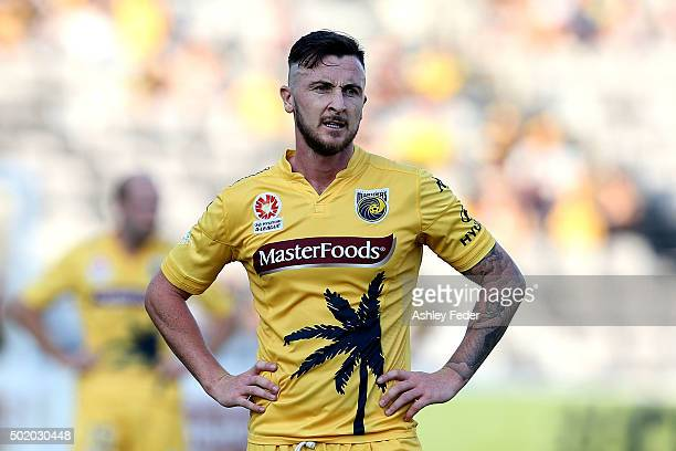 Roy O'Donovan of the Mariners looks dejected after the loss during the round 11 ALeague match between the Central Coast Mariners and the Brisbane...