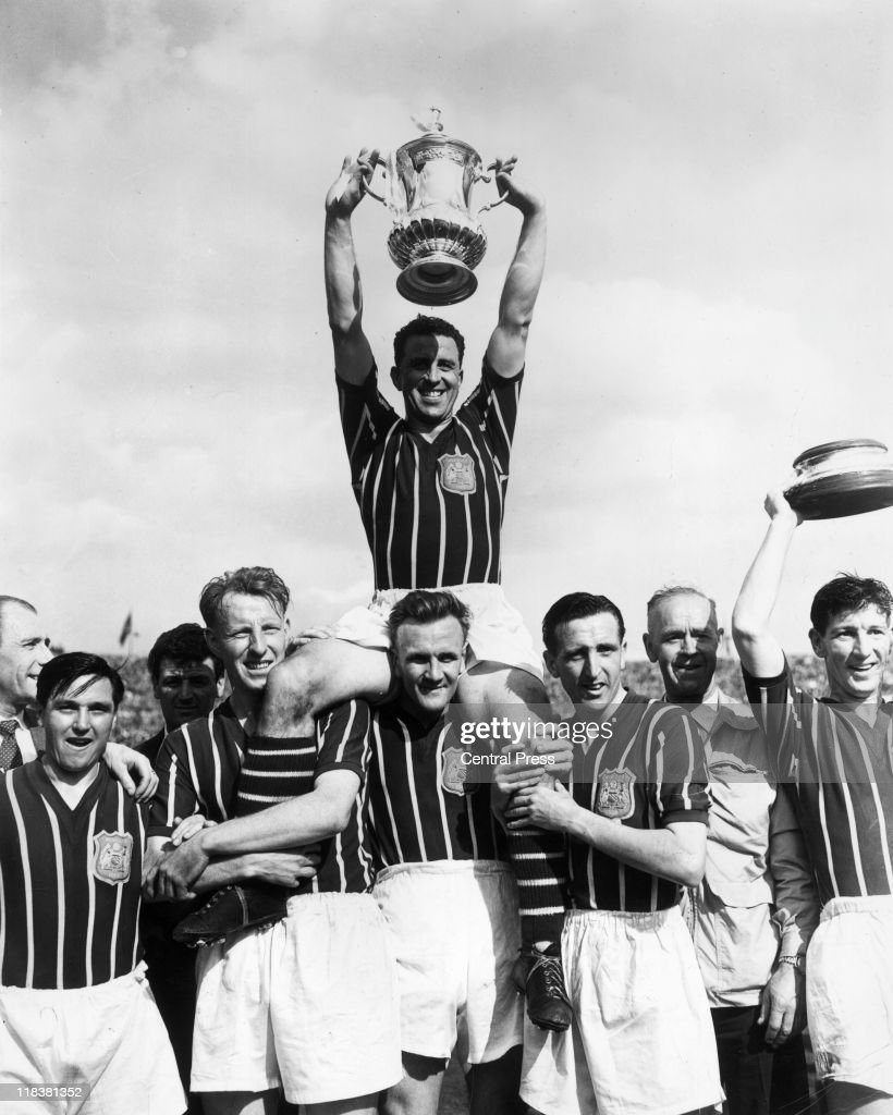 Roy Paul Manchester City captain poses with the FA Cup after his team's 31 victory over Birmingham City in the FA Cup Final at Wembley Stadium in...