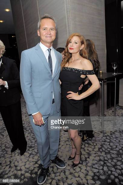 Roy Price and Lila Feinberg attend 2017 Museum Of The Moving Image Industry Honors at Park Hyatt Hotel New York on June 6 2017 in New York City