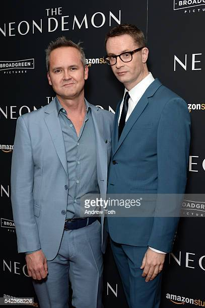 Roy Price and Nicolas Winding Refn attend the 'The Neon Demon' New York premiere at Metrograph on June 22 2016 in New York City