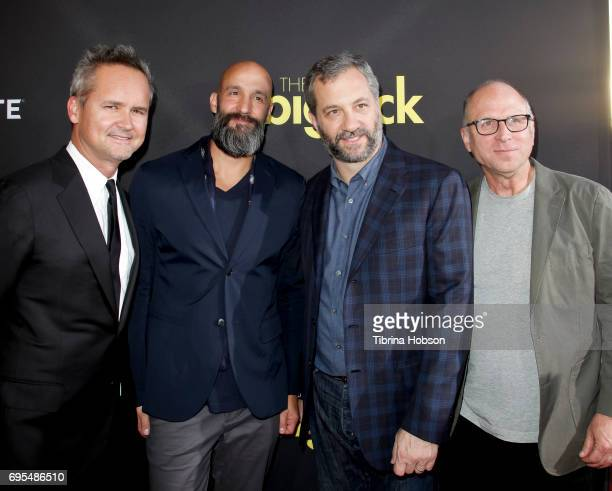 Roy Price Jason Ropell Judd Apatow and Bob Berney attends the premiere of Amazon Studios and Lionsgate's 'The Big Sick' at ArcLight Hollywood on June...