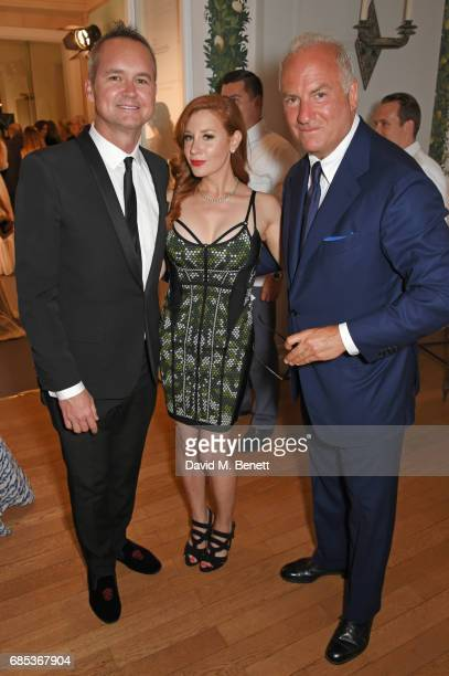 Roy Price Lila Feinberg and Charles Finch attend The 9th Annual Filmmakers Dinner hosted by Charles Finch and JaegerLeCoultre at Hotel du CapEdenRoc...