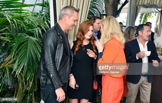Roy Price Lila Feinberg and Judith Light attend the Audi and Amazon Studios Transparent Nominees Brunch in the garden of The Chateau Marmont on...