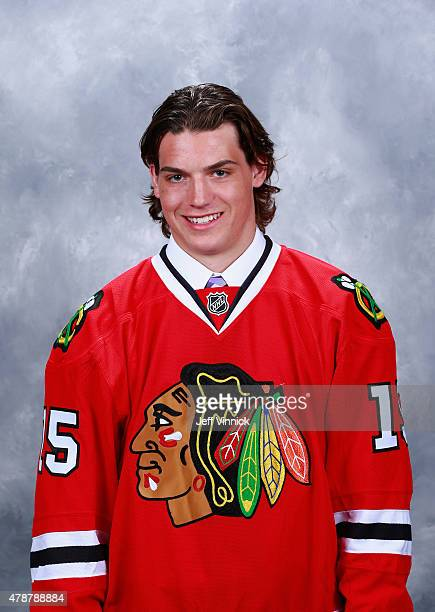Roy Radke 164th overall pick by the Chicago Blackhawks poses for a portrait during the 2015 NHL Draft at BBT Center on June 27 2015 in Sunrise Florida