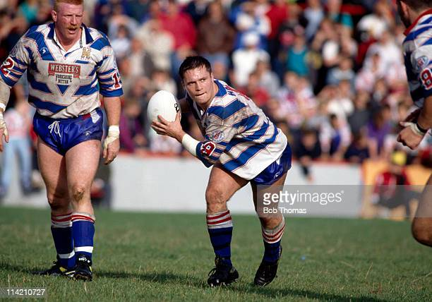 Roy Southernwood of Halifax in action against Salford during their Stones Bitter Rugby League match at Salford on 20th September 1992 Salford won 2722