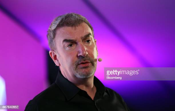 Roy Taylor vice president of alliances at Advanced Micro Devices Inc speaks on stage at the Virtual Reality World Congress in Bristol UK on Wednesday...