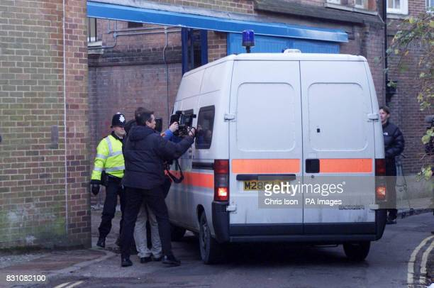 Roy Whiting arrives in a prison vehicle at Lewes Crown Court in East Sussex where he denies abducting and murdering eight year old Sarah Payne in...