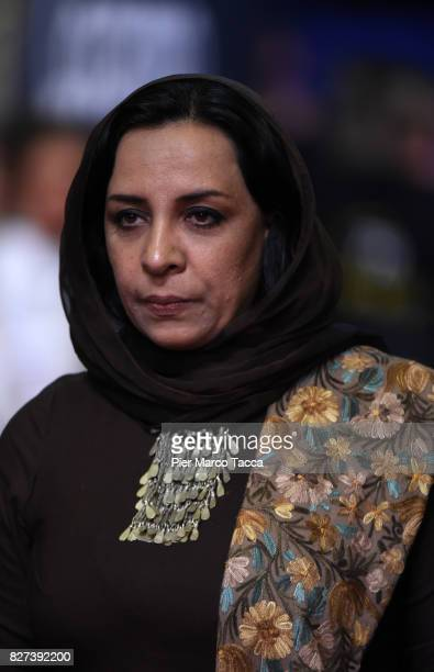 Roya Sadat attends the 'Chien' premiere during the 70th Locarno Film Festival on August 7 2017 in Locarno Switzerland