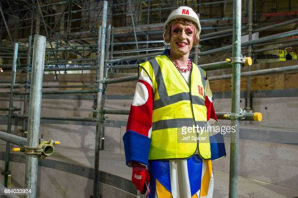 Royal Academician Grayson Perry helps to launch the public appeal 'Make Your Mark' in the new Lecture Theatre at the Royal Academy of Arts to raise...