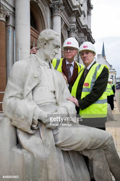 Royal Academicians Cornelia Parker and Gilbert George along with Blondel Cluff of National Lottery and Stephen Bowcott of Sisk unveil restored...