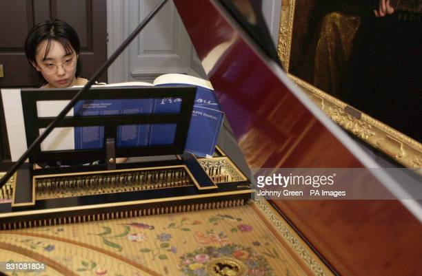 Royal Academy of Music student Masumi Yamamoto plays Handel's music on Bruce Kennedy's doublemanual 'Ruckers' harpsichord at a preview of the Handel...