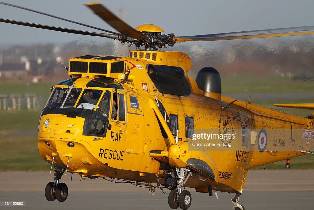 A Royal Air Force search and rescue helicopter prepares to leaves RAF Valley as the search continues for the crew of cargo vessel The Swanland which sank off north Wales on November 27, 2011 in Anglesey, Wales. Five crew are still missing after the recovery of one body today. Prince William, the Duke of Cambridge, is a search and rescue helicopter co-pilot and took part in the rescue last night which saved two crewman.