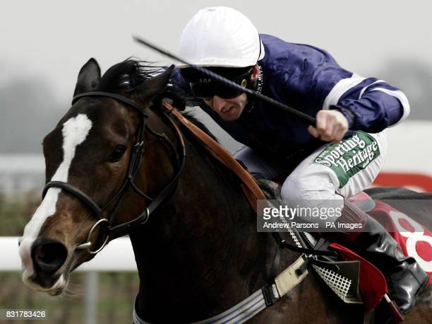 Royal Alchemist ridden by Martin Dwyer goes on to win The Sportsman Stakes at Kempton Park racecourse