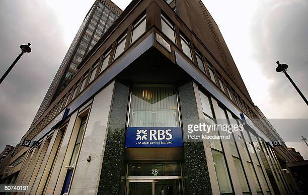 Royal Bank of Scotland Branch stands near Oxford Street on April 18 2008 in London RBS is set to ask investors for extra cash to help it through the...