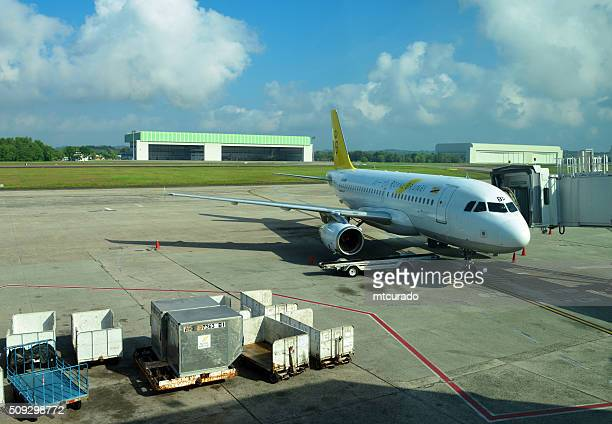 Royal Brunei Airlines jet at the Brunei International Airport