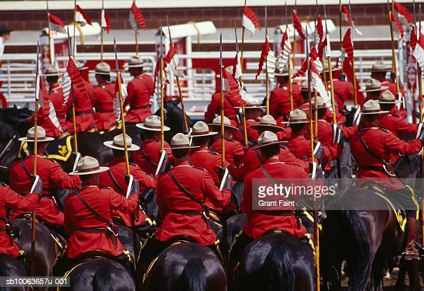 Royal canadian mounted police musical ride, rear view
