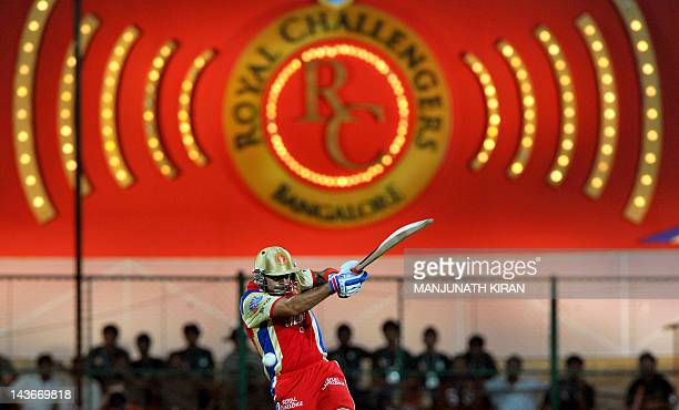 Royal Challengers Bangalore batsman Virat Kohli plays a shot during the IPL Twenty20 cricket match between Royal Challenger Bangalore and Kings XI...