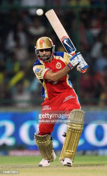 Royal Challengers Bangalore batsman Virat Kohli plays a shot during the IPL Twenty20 cricket match between Delhi Daredevils and Royal Challengers...