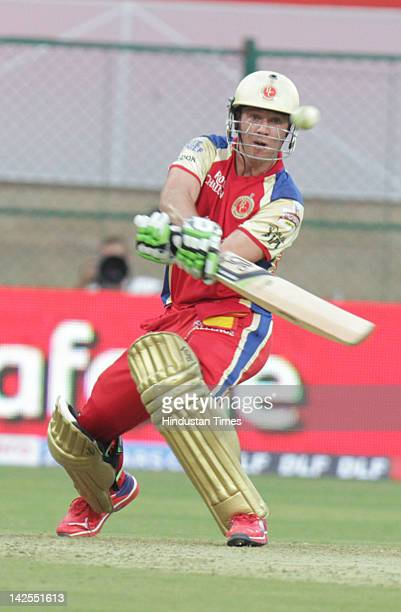 Royal Challengers Bangalore's right hand batsman AB de Villiers in action during the match between Royal Challengers Bangalore and Delhi Daredevils...