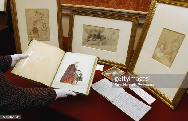 Royal collection artworks on display in the Picture Gallery at Buckingham Palace ahead of the three day state visit by the Italian President Carlo...