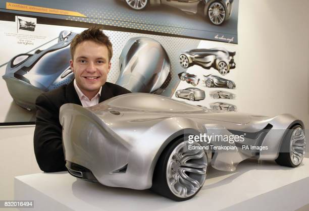 Royal College of Art student Michal Illukiewicz with his car design Singles at the Royal College of Art's students degree show The Show Two at...