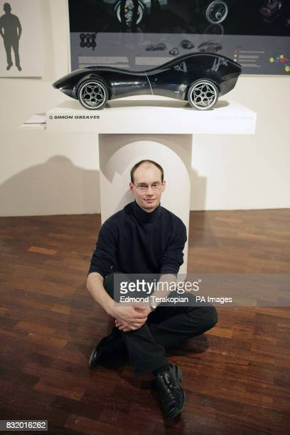 Royal College of Art student Simon Greaves and his Chopster car design at the Royal College of Art's students degree show The Show Two at Kensington...