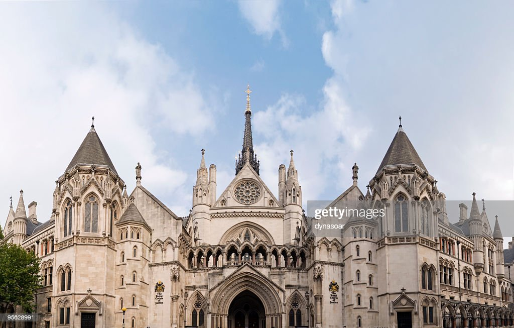 Royal courts of Justice panorama, London